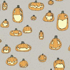 Happy Pumpkins, Grey