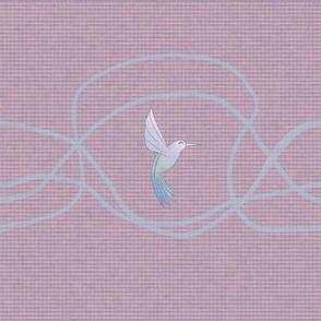 Pastel Hummingbird on Smoky Rose