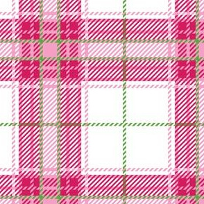 Pink White Plaid