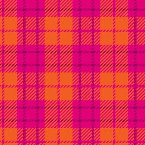 Small Pink Orange Plaid