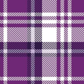 White Purple Plaid
