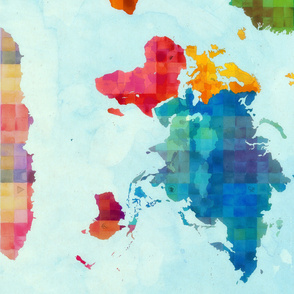 Spoonflower World Map