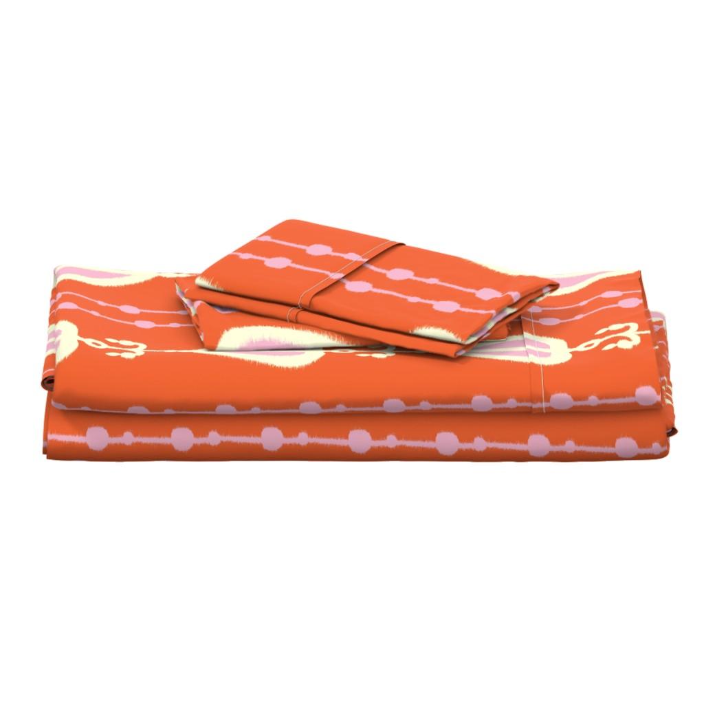 Langshan Full Bed Set featuring Sweet Heart Stripe by alison_janssen
