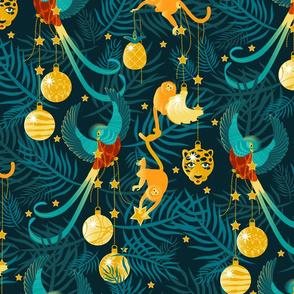 Tropical Maximalist Christmas-Large