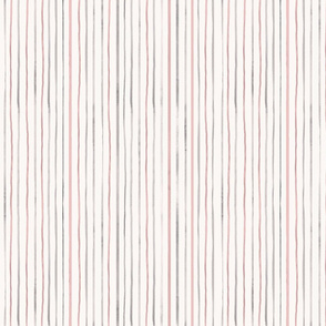 Pink and gray watercolor stripes