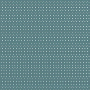 Polka dots on teal