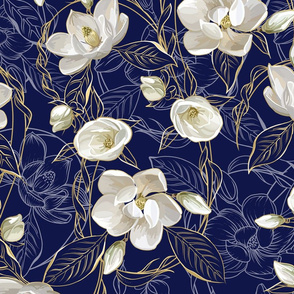 Southern Magnolias | Navy #101647