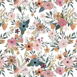 "16"" Floral Garden - White"
