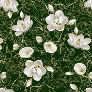 Southern Magnolias | Deep Green #0b2e06