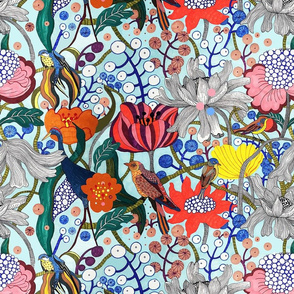 Birds of Paradise pattern