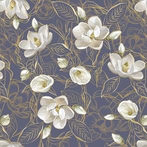 Southern Magnolias | Blue Gray Plum #606278