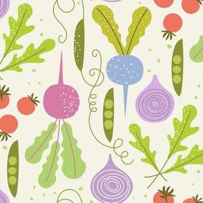 veggie garden /  green purple