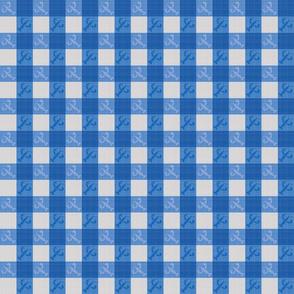Crawfish Table Cloth - Blue
