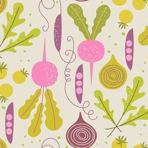 veggie garden / pink gold