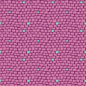 Pop Art Cobblestones - Lilac and Mint - Small Scale