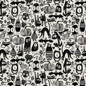 Gothic Halloween Monsters { medium }