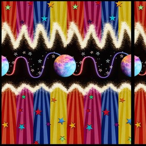 Cosmic Carnival Canopy Around the World - Lg Scale