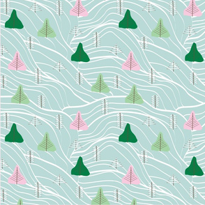 Cut Out Pine Trees
