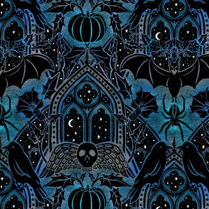 Gothic Halloween - Eerie Blue - Large Scale