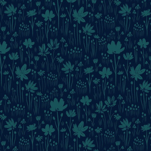 Navy Blue and teal grass