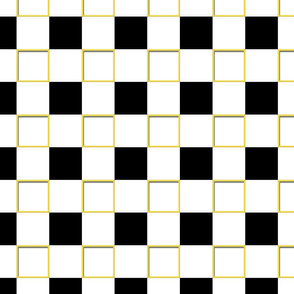 Black and Yellow Square