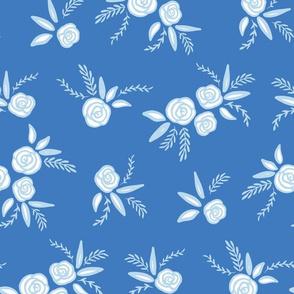 Light Blue Modern Rose Florals