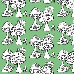 color me mushroom family