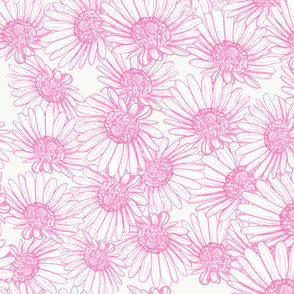 Pink Daisy Bed