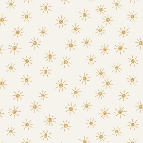 Freehand scattered sunshines Rich by Erin Kendalgolden yellow on bone