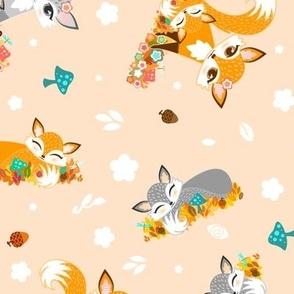 Lil Fox Cubs in Autumn