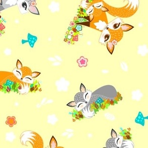 Lil Fox Cubs in Spring