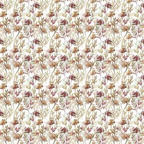 Seamless pattern leaf orange brown