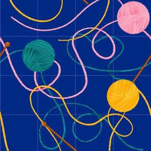 Fun knitting-Navy