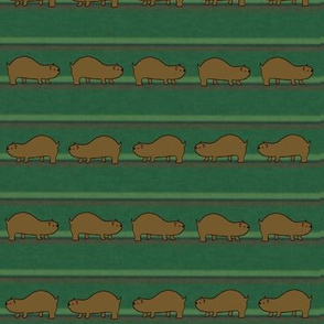 Lemmings on Green Stripes