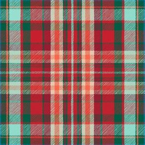 Christmas tartan plaid with tropical touch