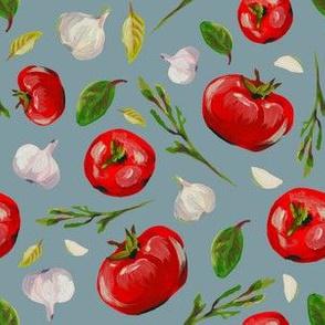 tomatoes garlic arugula fresh pattern salad