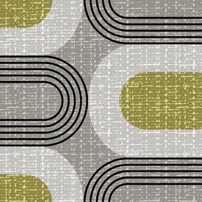 Tweedy mid century ovals-granite-jumbo