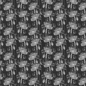 Poppy blach pattern vintage paper