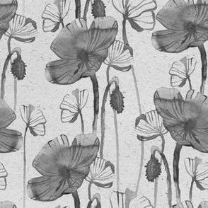 Poppy grey vuntage paper pattern