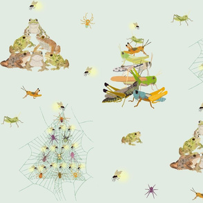 Critters Making Christmas Trees