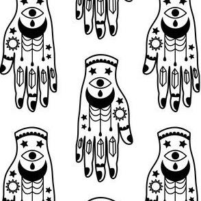 Tattooed Hand - Black on White