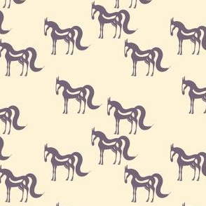 The Essence of a Horse One-Way Pattern (Beige and Mauve) – Small Scale