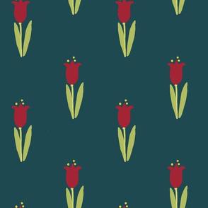 Tulip Block Print