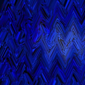 Geometric Chevron - Electric Blue