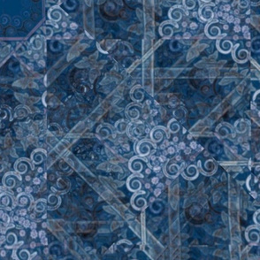 Blue Denim Seamless Non-Directional Repeating Pattern