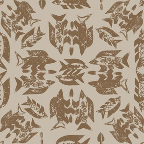 Protect Wild Ocean Fish Taupe on Taupe