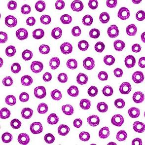 crayon donut polkadots - bright plum