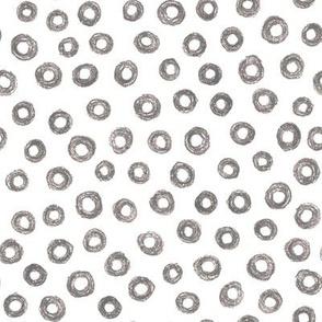 crayon donut polkadots - trendy grey