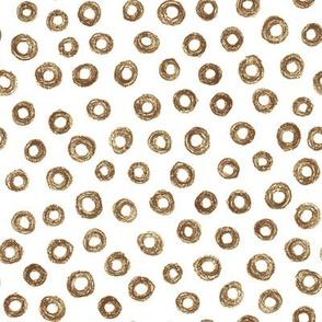 crayon donut polkadots - brown