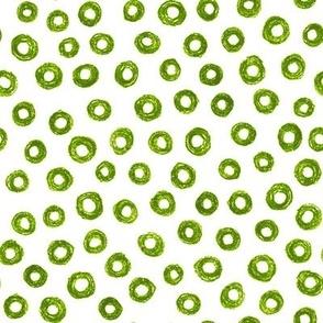 crayon donut polkadots - leaf green